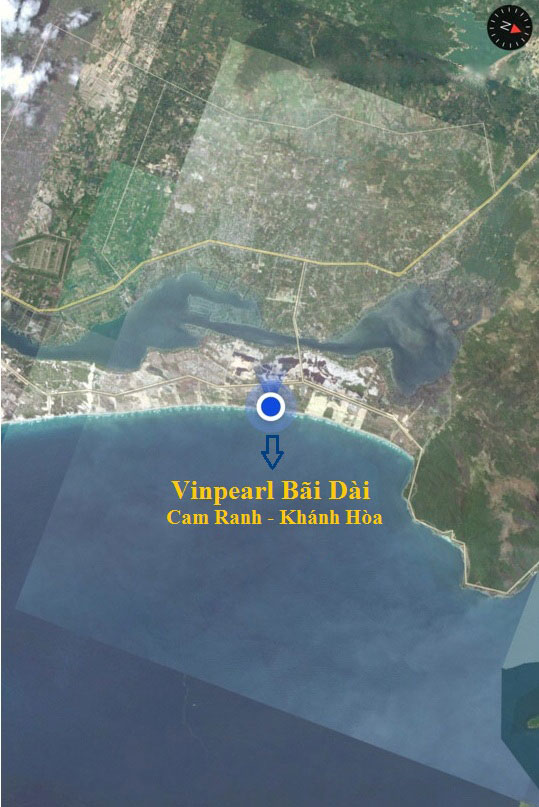 Vị trí địa lý đẹp tại Vinpearl Bãi Dài Nha Trang