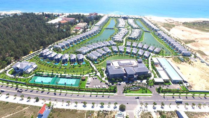 Hình ảnh tiến độ xây dựng dự án bất động sản nghỉ dưỡng của Vingroup
