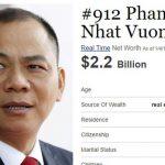 Top 6 người giàu nhất Việt Nam trong lĩnh vực đầu tư BĐS